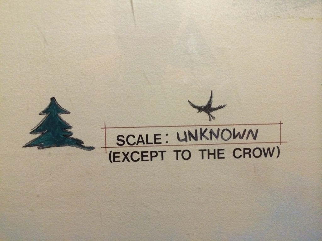 Scale Unknown Except to the Crow